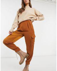 Object Коричневые Брюки-карго Amber-коричневый Цвет