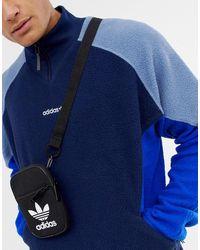 adidas Originals Черная Сумка С Логотипом-трилистником Bk6730-черный - Синий