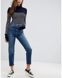 ASOS - Farleigh High Waist Slim Mom Jeans In Neo Wash - Lyst