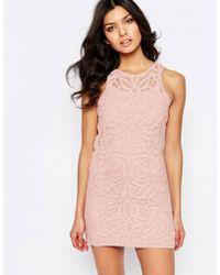 Foxiedox - Monticello Lace Mini Dress - Lyst