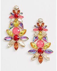 ALDO Crystal Statement Earrings - Multicolour