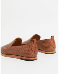 H by Hudson Ipanema Woven Loafers - Brown