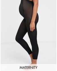 Lindex Maternity Recycled Super Soft legging Footless Tights - Black