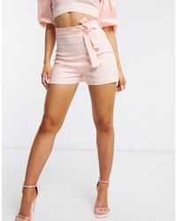 Vesper Розовые Строгие Шорты От Комплекта С Поясом -розовый