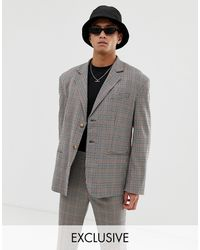 Collusion Oversized Suit Jacket - Brown