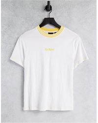 Kickers Relaxed T-shirt With Pastel Embroidery Logo - White