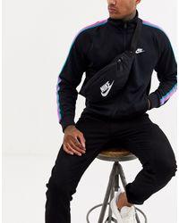 Nike Sportswear Heritage Logo-print Canvas Belt Bag - Black