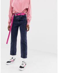 Collusion X006 - Mom Jeans - Blauw