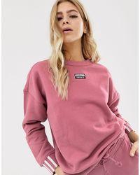 felpa adidas donna corta rosa