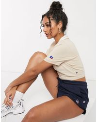 Russell Athletic Cropped Polo - Multicolor