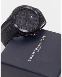 Tommy Hilfiger Мужские Часы Черного Цвета С Силиконовым Ремешком 1791861-черный
