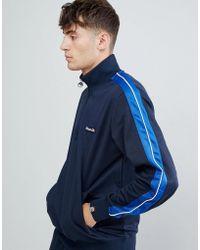 Ellesse - Vinio 1/2 Zip Sweatshirt With Taping In Navy - Lyst