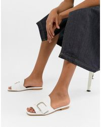 ASOS - Clover Leather Flat Mules - Lyst