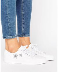 Pull&Bear - Leather Look Star Sneaker - Lyst