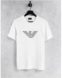 Emporio Armani - Белая Футболка С Логотипом В Виде Орла На Груди -белый - Lyst