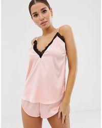 Ann Summers Розовый Пижамный Комплект С Топом На Бретелях Angelina-розовый Цвет