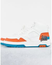 Pull&Bear Space Jam High Top Trainers - White