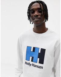 Helly Hansen - Crew Neck Jumper In White - Lyst