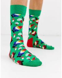 Happy Socks Chaussettes à motif gnome - Vert
