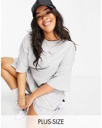 PUMA Plus Repeat Cat Logo T-shirt Dress - Grey