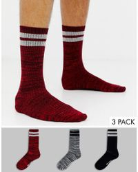 Ben Sherman - 3 Pack Socks With Stripe - Lyst