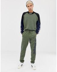 9883dab058e adidas Originals - Goalie Sweat In Green Dh6658 - Lyst