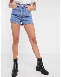 Levi's Ribcage - pantaloncini di jeans lavaggio medio - Blu