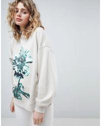 Weekday - Oversized Printed Sweatshirt - Lyst