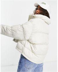 ASOS Asos Design Petite Oversized Recycled Puffer Jacket - White