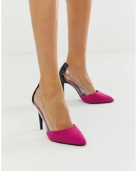 New Look Clear Detail Heel - Pink