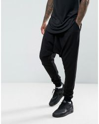 ASOS - Extreme Drop Crotch Joggers In Lightweight Jersey - Lyst