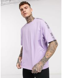 ASOS Dark Future Pyjama megging And Oversized Tshirt Set - Multicolour
