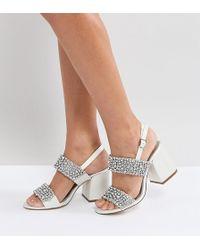 ASOS - Asos Hubby Bridal Embellished Heeled Sandals - Lyst