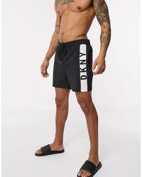 DKNY Side Logo Swim Shorts - Black