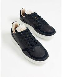 adidas Originals Черные Кроссовки Supercourt-черный