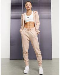 Nike Флисовые Бежевые Джоггеры -бежевый - Естественный