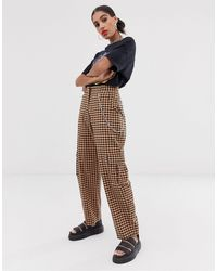 The Ragged Priest Gingham Pants With Chain Detail Co-ord - Orange