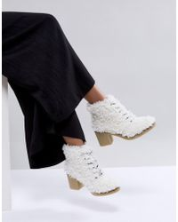 ASOS - Wisteria Premium Faux Shearling Boot - Lyst