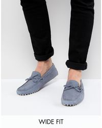 ASOS Wide Fit Driving Shoes - Blue