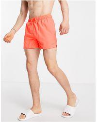 Pull&Bear Неоново-оранжевые Шорты Для Плавания -оранжевый Цвет