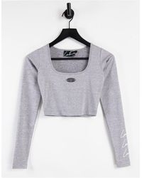 The Couture Club Signature Crop Top - Grey