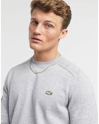 Lacoste Live - Katoenen Sweater Met Ronde Hals - Grijs