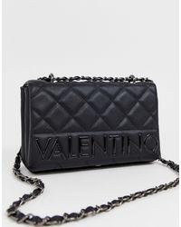 Valentino By Mario Valentino Sac porté épaule avec rabat matelassé - Noir