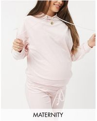Lindex Mom Exclusive Taylor Recycled Poly Velour Maternity Hoodie - Pink