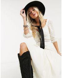 Free People Sweethearts Midi Dress-white