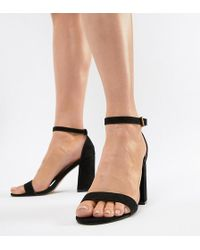 London Rebel - High Block Heel Sandals - Lyst