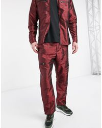 The Ragged Priest Red Tafetta Pant
