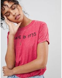 Pepe Jeans - Alicia Print T-shirt - Lyst