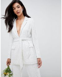 ASOS Embellished Blazer - White