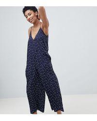 Noisy May Tall - Wide Leg Star Print Jumpsuit - Lyst